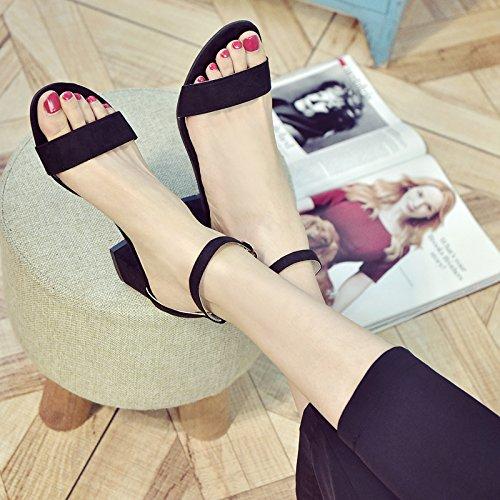 Chaussures Mode Shoes EU35 Femme Heel SHOESHAOGE Femme Avec Sandales L'High Suivi Fente Dew Toe Rome 8qUxYRO