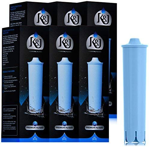 K&J Jura Capresso Clearyl Blue Compatible Water Filters - Replaces Jura Blue Filters (6-Pack) - Head Compatible Water Filter