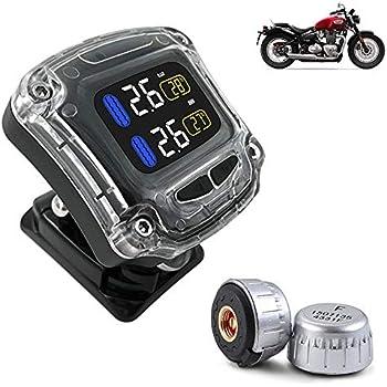 Amazon Com Sherox Wireless Motorcycle Tpms Tire Pressure