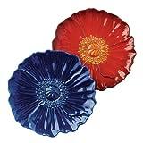 Gifts Flowers Food Best Deals - Grasslands Road American Bloom Ceramic Flower Plate, 8-Inch, Assortment, Set of 6