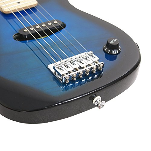 """Smartxchoices 30"""" Inch Kids Electric Guitar With 5W Amp & Much More Guitar Combo Accessory Kit Holiday Gift (Blue) - Image 3"""