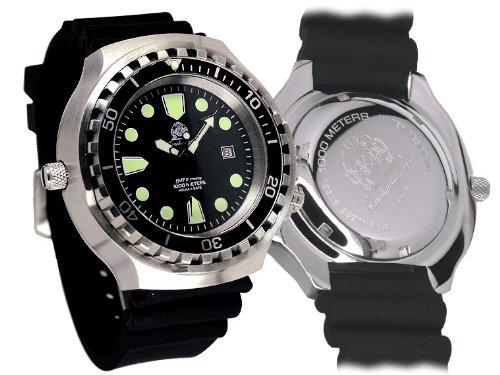 XXL 52 mm - 1000 M - Militar reloj de buzo Tauchmeister con cristal de zafiro y helio Velve t0265: Amazon.es: Relojes