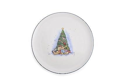 Addobbi Natalizi Hervit.Hervit Natale Art 26755 Piatto In Porcellana Dia 30cm Abete Amazon