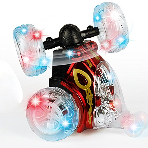 360 Spinning And Flips Remote Control Truck, Rc Rolling Stunt Car With Led Lights And Music (Red) by HongXander Toy RC Racing Car (Image #8)