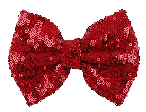 Love Fairy Fashion Bow Hairpin Sequins Hair Clip Multicolor 0ptional for Baby Girls Toddler Kids and Women (Red)