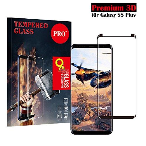 Samsung Galaxy S8 Plus Panzerglas Schutzfolie, Qualität 3D Gehärteter Glas panzerfolie [HD Klar] [Anti Fingerabdruck] [Blasenfrei] [Anti-Kratzen] 3D Displayschutzfolie Folie für Samsung Galaxy S8 Plus