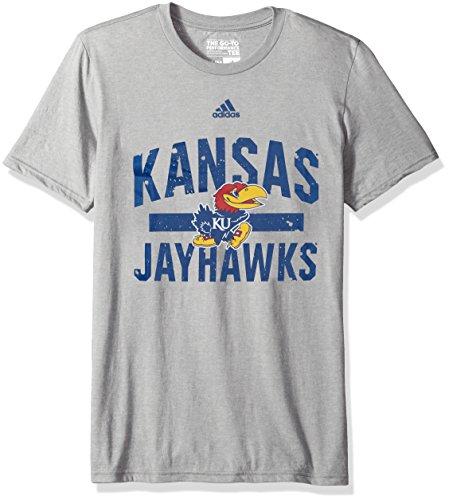 Jayhawks Shorts Kansas Adidas (adidas NCAA Kansas Jayhawks Mens Workout Go-To Performance S/Teeworkout Go-To Performance S/Tee, Medium Gray Heather, XX-Large)