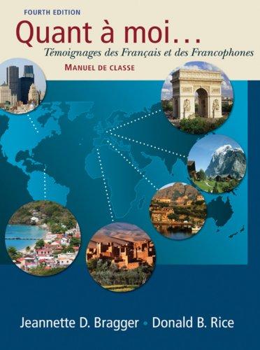 Quant a moi...: Temoignages des Français et des Francophones Pdf