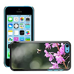 Super Stellar Slim PC Hard Case Cover Skin Armor Shell Protection // M00126690 Bee Primrose Summer Insects // Apple iPhone 5C