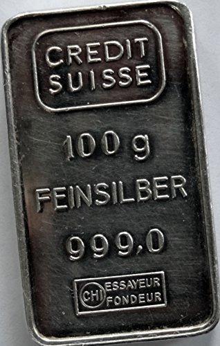 100 Gram Credit Suisse  999 Feinsilber