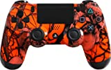 Custom PlayStation 4 Controller Special Edition Orange Nightmare Controller