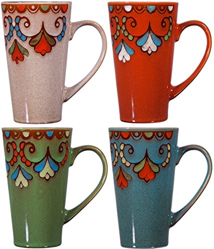 large ceramic coffee mug sets - 4