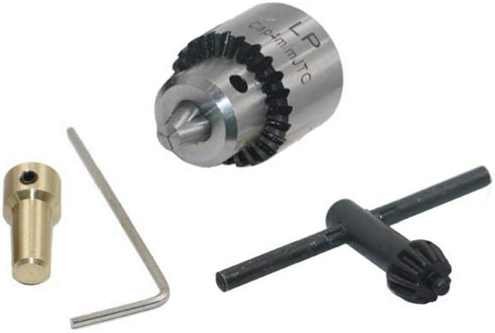 ESjasnyfall gris Mini portabrocas Micro 0.3-4Mm Jto Portabrocas montado en cono y llave con accesorios de torno de llave de portabrocas