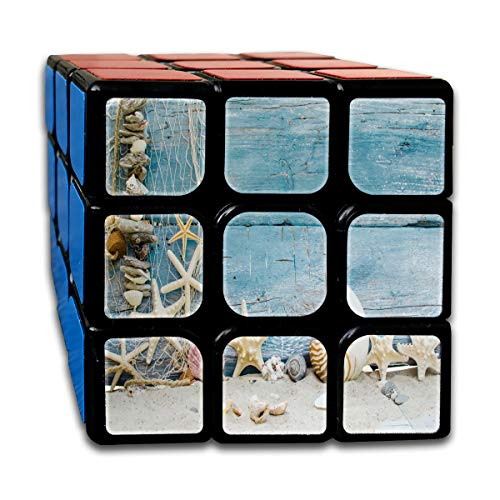 s Blue Cool Speed Cube 3x3 Smooth Magic Square Puzzle Game Black ()