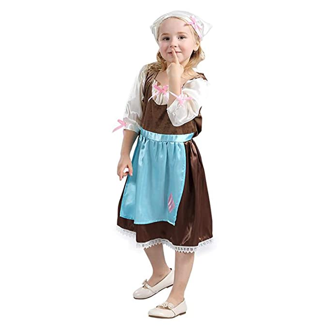 Amazon.com: HÖTER - Delantal de princesa, disfraz de ...