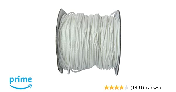 Roman Shade Cord /& Wind Chime Cord 0.9 mm - SGT KNOTS 100 Yards - Ivory Micro Cord//Nano Cord for Crafting Home Decor Durable Polyester Lift Cord Repair Mini Blind Cord DIY Projects