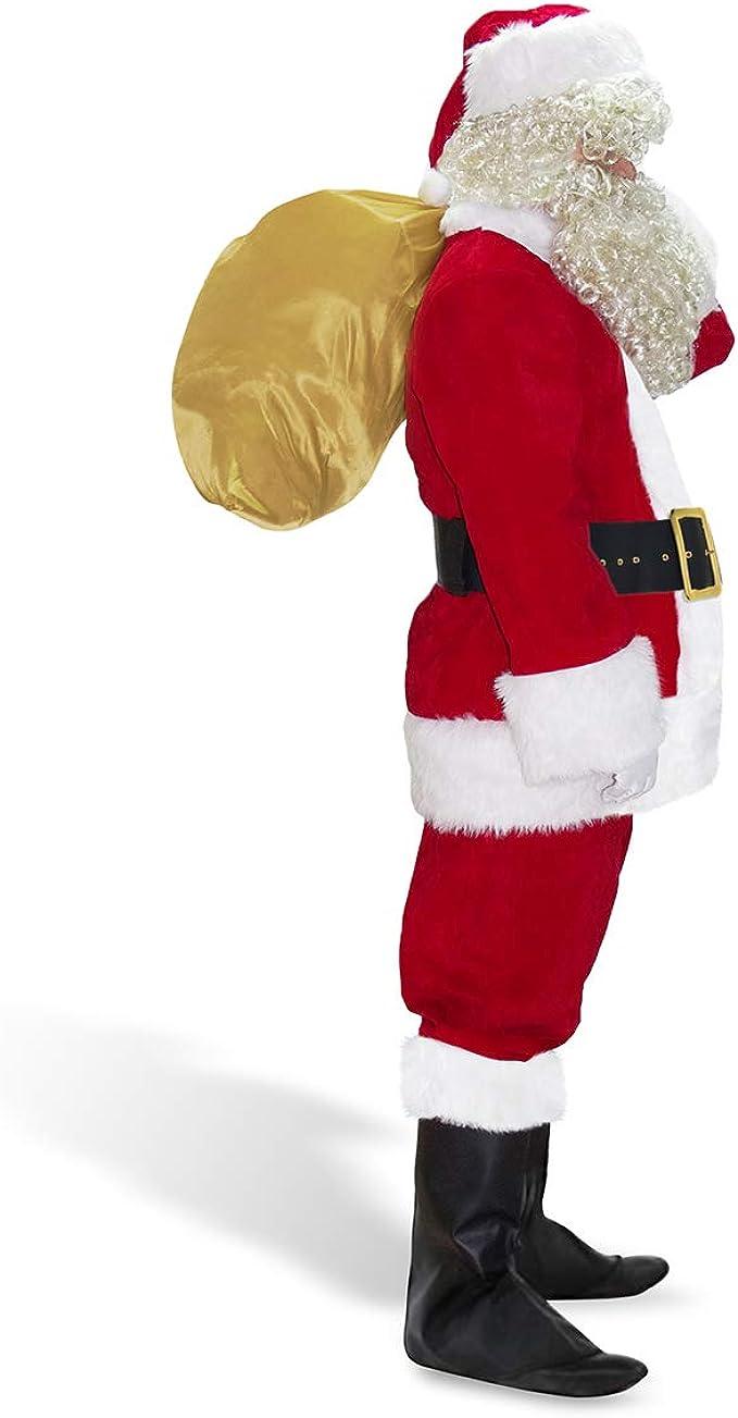 Amazon.com: Abalagu - Traje de Papá Noel para hombre, 10 ...