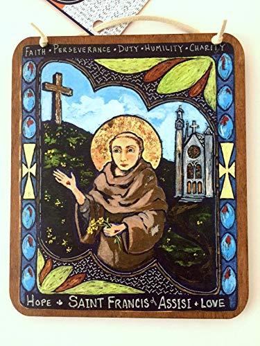 Retablo plaque Saint Francis of Assisi