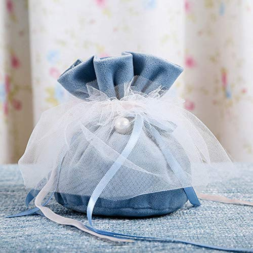 - Pannow 20Pack Velvet Drawstring Pouches, Jewelry Gift Bags Pouches Favors Christmas Candy Gift Bag Pouch Wedding Favors,5.3 x 4inch/Blue