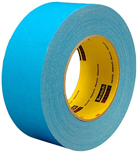 (3M 17638-case Repulpable Single Coated Tape R3185, 96 mm x 55 m, Blue (Pack of 8))
