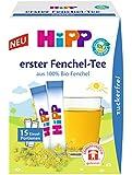 HiPP Erster Fenchel-Tee zuckerfrei, 6er Pack (15 x 5,4 g)