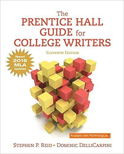 Amazon. Com: the prentice hall guide for college writers ebook.