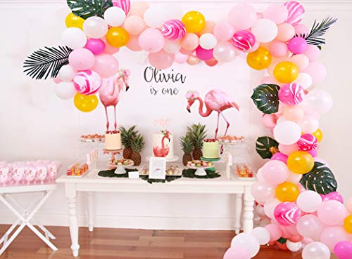 - Beaumode DIY Pink&Rosy Balloons Garland Kit 110pcs Assorted Latex Balloons Arch Garland Banner for Tropical Party Wedding First Birthday Baby Shower Bridal Shower Girls Birthday Engagement Anniversary Party Photo Booth Backdrop Venue Decor