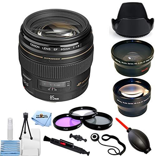 Canon EF 85mm f/1.8 USM レンズ 2519A003 PRO バンドル [国際版]   B07KGH585B