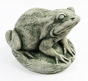 Garden Frog Concrete Garden Statue Toad Figure Cement Outdoor Frog Figurines