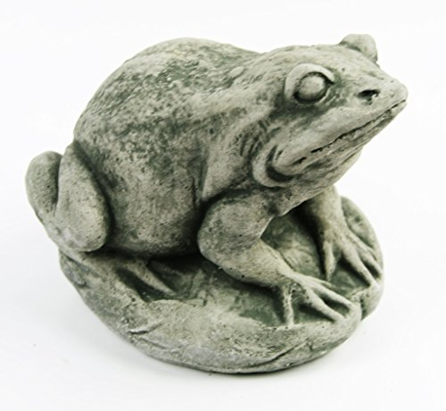 Garden Frog Concrete Garden Statue Toad Figure Cement Outdoor Frog Figurines