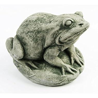 Garden Frog Concrete Ornamental Statue 6.5 inches H x 7 inches W