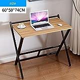 HPLL Laptop Table Computer Folding Table, Multifunctional Folding Desk Sofa Breakfast Table Home Office Desktop Notebook Folding Table (60x50x74cm) (Color : A, Size : 60x50x74cm)