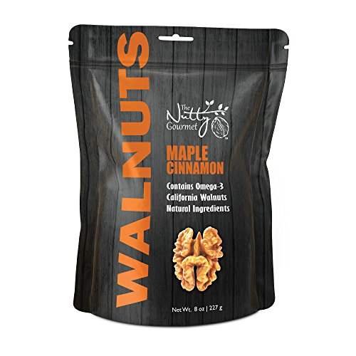 The Nutty Gourmet - Flavored Walnuts 8oz - (Maple Cinnamon)