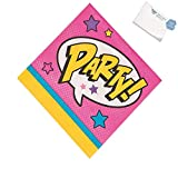 Bargain World Superhero Girl Luncheon Napkins (With Sticky Notes)
