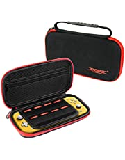 Carrying Case for Nintendo Switch Lite 2019, Molyhood Compact Protective Portable Carrying Case Travel Storage Hard Shell with 8 Game Cartridges