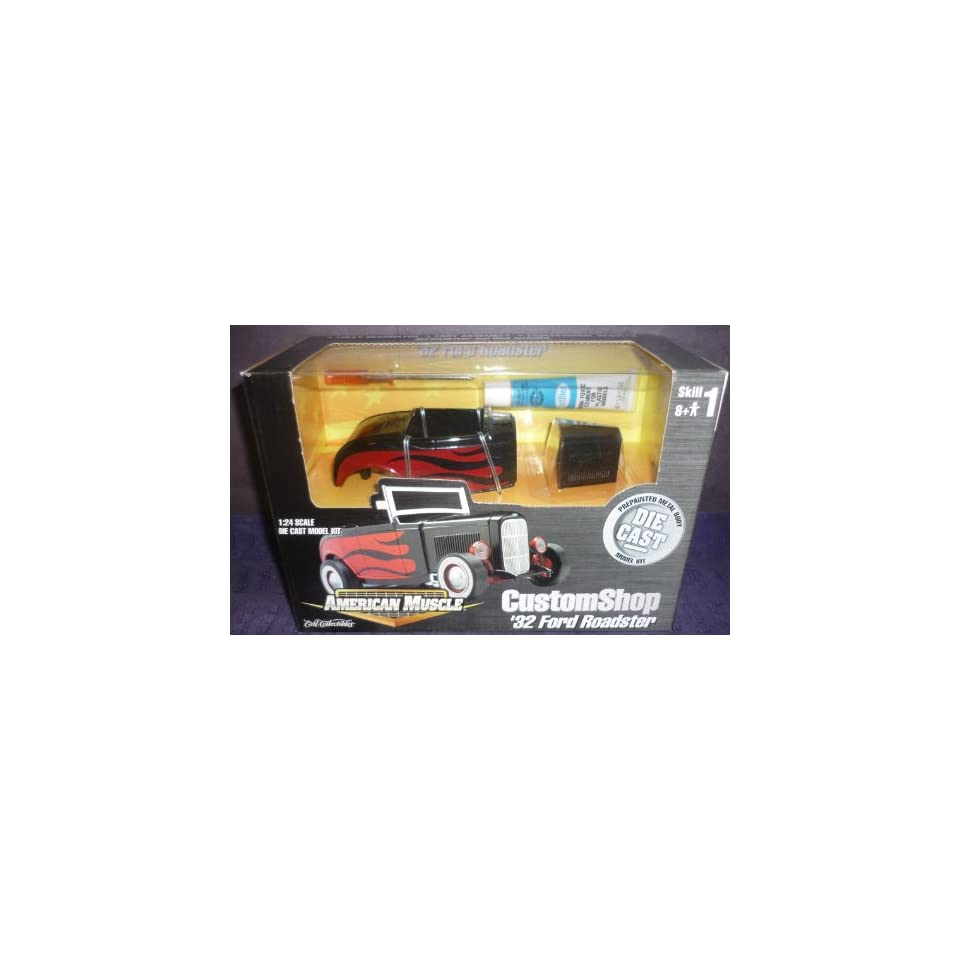 #30284 Ertl American Muscle Custom Shop 32 Ford Roadster 1/24 Scale Diecast Model Kit,Needs Assembly