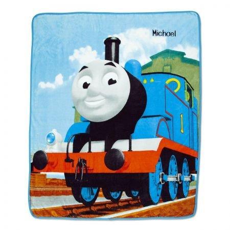 (Lillian Vernon Personalized Thomas Kids Fleece Throw Blanket- Thomas The Train Engine, 100% polyester, 46