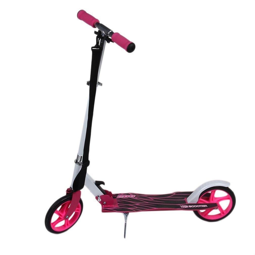 ALTERDJ Big Wheel Scooter 205, City-Roller klappbar und höhenverstellbar Erwachsene-Tret-Roller (Rosa)