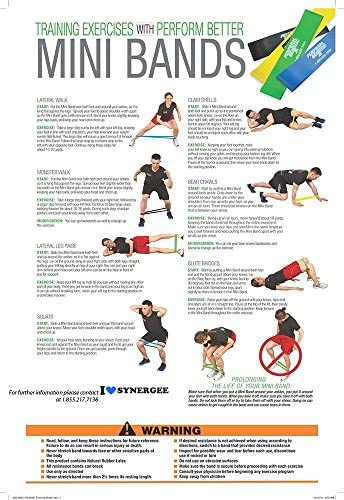"""Perform Better Mini Band Resistance Loop Exercise Bands 9"""" via 2"""""""