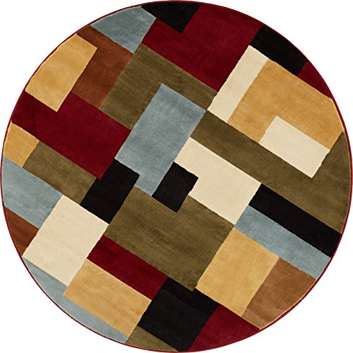 Imperial Mosaic Multicolor Geometric Modern Casual 5 Round (5'3