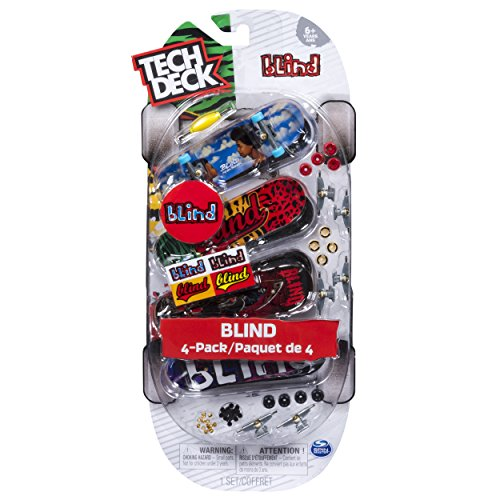 - TECH DECK - 96mm Fingerboards - 4-Pack - Blind