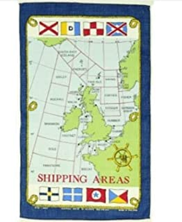 Tea Towel Shipping Forecast Areas Galley Cloth Fabric Poster