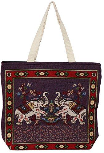 Tote Top Shoulder Bohemian Size Big Elephant Bag Handle Handbag E217 Hippie Cute q0IwOFR