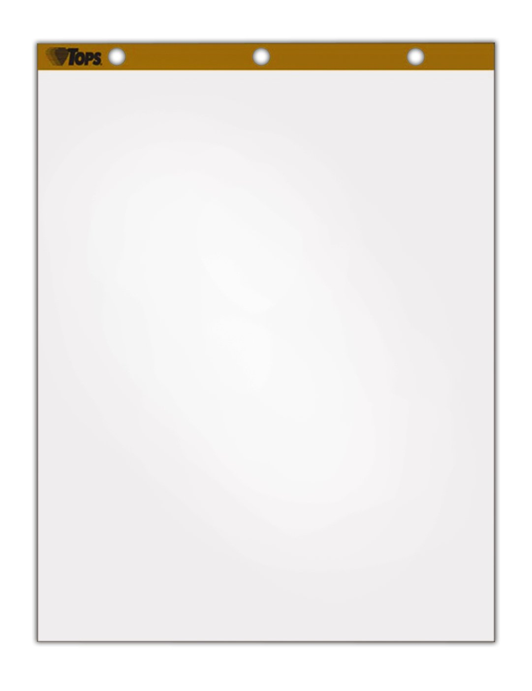 TOPS Easel Pad, 27.5 x 35 Inches, 3-Hole Punched, 50 Sheets, White, Carton of 4 Easel Pads (79011) by TOPS