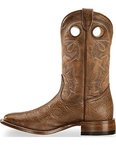 Boulet Menns Stockman Cowboy Boot Bredt Firkantet Tå 8172 Mørk Brun