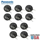 10x Panasonic CR-2032/VBN 3V Lithium Coin Battery Vert 2 PC Pins For C-MOS, S-RAM, RFID, electronic memory system, wristwatch, calculator, toy, electronic gift, memory support, power source