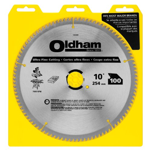 Oldham 100100TP 10-Inch 100T Carbide Saw Blade Ultra Finishing/Plywood