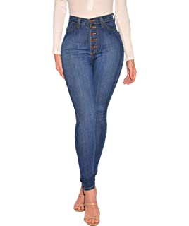 fed2adc642d Just for Plus Women's Denim Destroyed Ankle Length Skinny Jeans Long Length  Ripped Hole Trousers Pants