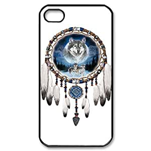 Hard Shell Case Of Wolf Dream Catcher Customized Bumper Plastic case For Iphone 4/4s
