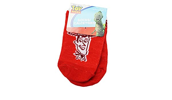 Amazon.com: Disney Pixars Toy Story Retro Woody Red Colored Kids Socks (1 Pair, Size 4-6): Clothing